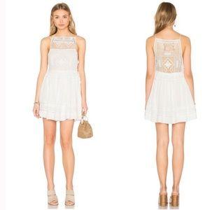 Free People Emily Crochet Dress White- XS